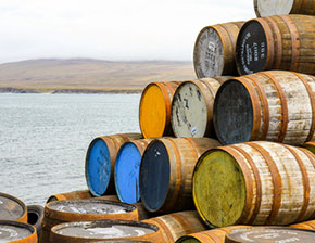 Barrels by sea