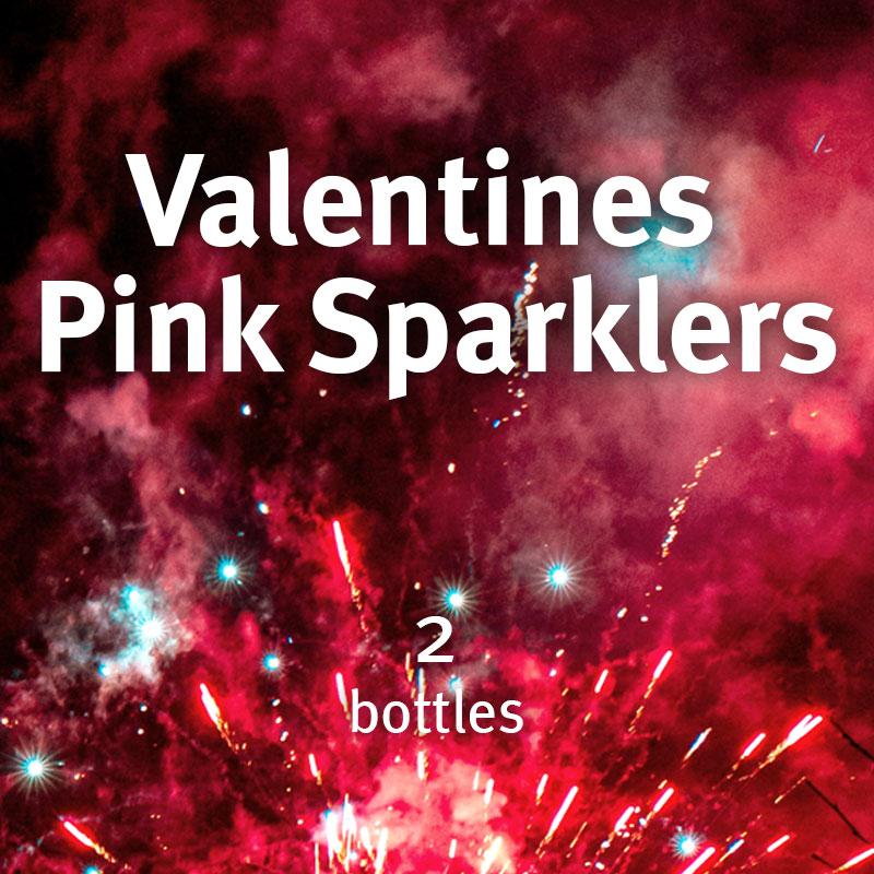 Valentines Pink Sparklers